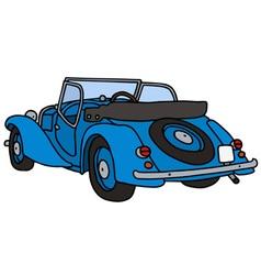 Vintage blue cabriolet vector