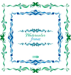 watercolor frames vector image