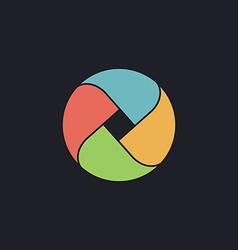 Wave circle computer symbol vector