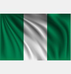 Waving nigeria vector