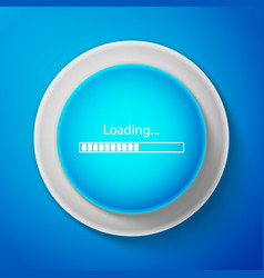 white loading icon isolated progress bar icon vector image