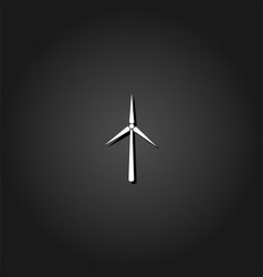 windmill icon flat vector image