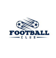 football club two balls flying background i vector image vector image
