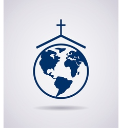 icon of church vector image vector image