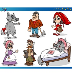 little red riding hood characters vector image