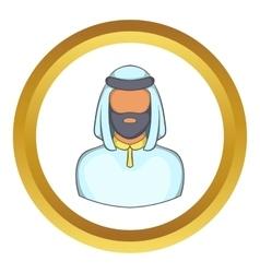 Male arab icon vector image vector image