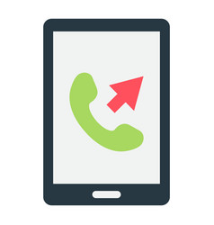 outgoing call flat icon contact us and website vector image vector image