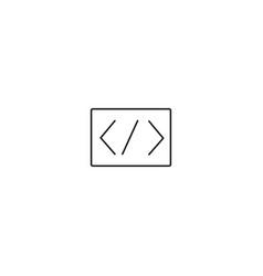 programming code icon vector image
