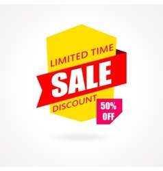 Sale banner Discount and special offer 50 vector image