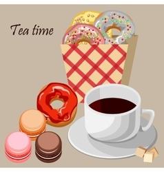 Set for tea vector image