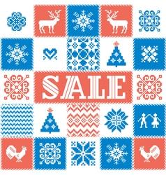 Winter sale background vector