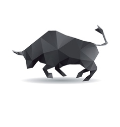 Bull abstract isolated on a white backgrounds vector image vector image