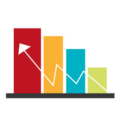 color bar graphic with economic indicator line vector image