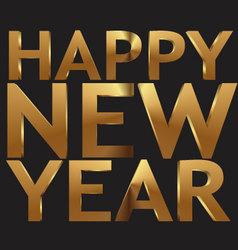 Happy New Year 3d golden text vector image vector image