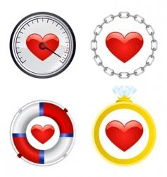 heart symbol set vector image vector image
