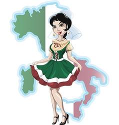 Italian girl vector image vector image