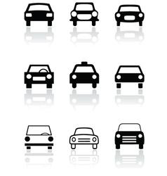 car symbol set vector image vector image