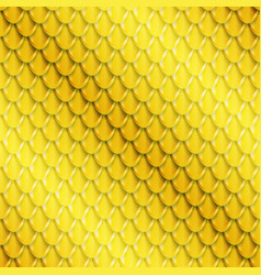 gold fish scales seamless pattern vector image