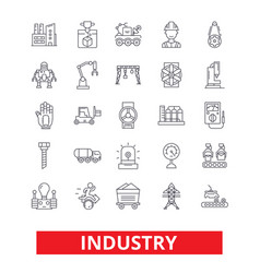 industry factory manufacturing assembly vector image vector image
