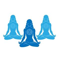 woman yoga vector image vector image