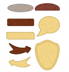 wooden buttons vector image