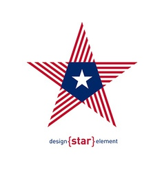 Abstract star with Liberia flag colors and symbols vector image vector image