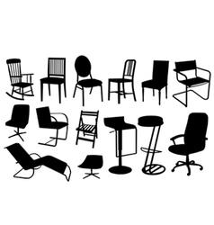Chair silhouettes vector