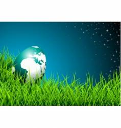 Easter illustration with shiny globe-egg vector image vector image