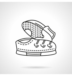 Flat line shoes pair icon vector image