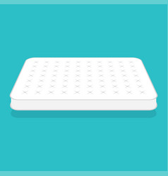 plain white mattress vector image