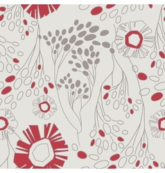 retro floral pattern with flowers seamlessly vector image vector image
