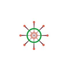 Ship helm Icon vector image vector image