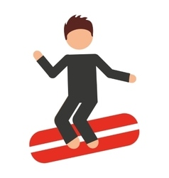 surfing isolated icon design vector image