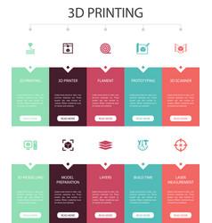 3d printing infographic 10 option ui design3d vector