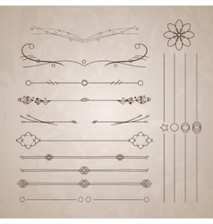 A diverse collection of dividers bumpers vector