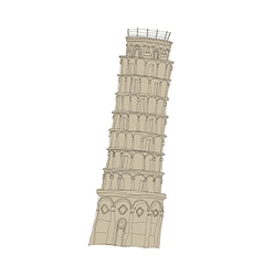 A leaning tower of pisa vector