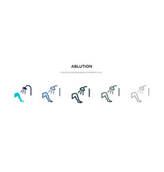 Ablution icon in different style two colored vector