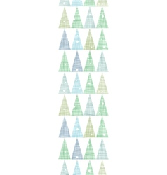 Abstract Christmas trees forest in snow vertical vector image
