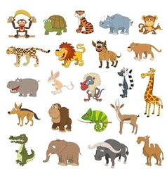 Africa animals set vector image