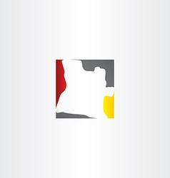 Angola map logo icon vector