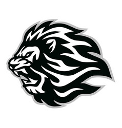 angry lion head logo icon design vector image