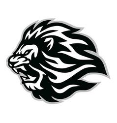 Angry lion head logo icon design vector