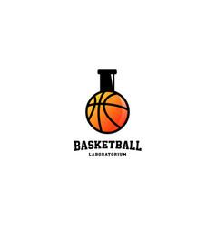 Basketball laboratorium logo design vector