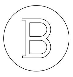 Beta greek symbol capital letter uppercase font vector