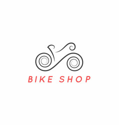 bike logo design logotype bicycle design vector image