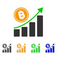 Bitcoin growth trend icon vector