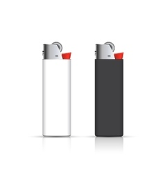 Black and white lighters isolated on white vector image