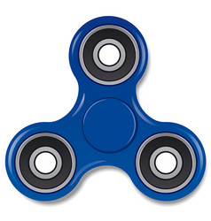 Blue spinner toy vector