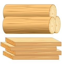 Boards and log vector image