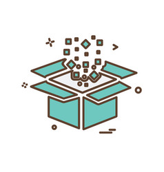box icon design vector image